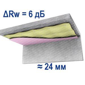 Потолок натяжной стандарт м - 2